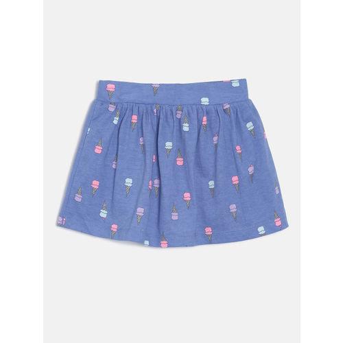 OSHKOSH Bgosh Baby Girls Blue Printed A-Line Skirt