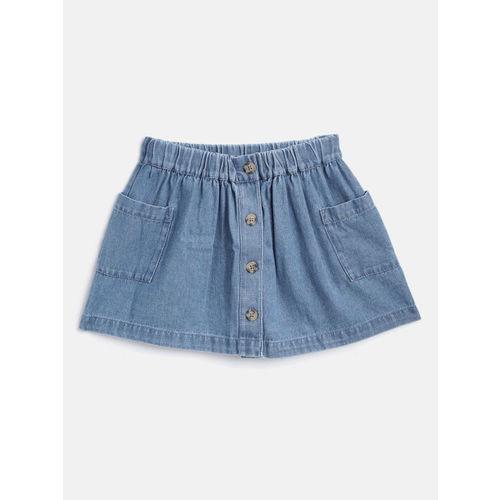 Marks & Spencer Girls Blue Denim Flared Skirt