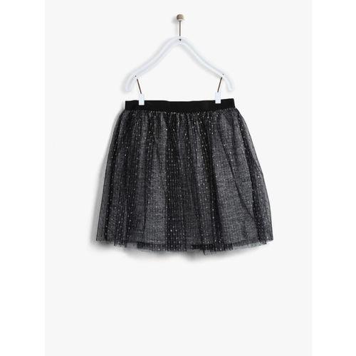 Losan Girls Black Shimmer Tulle Flared Skirt