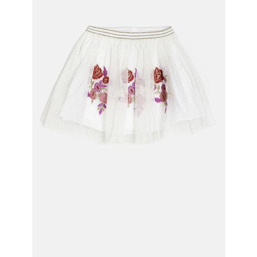 Fame Forever by Lifestyle Girls White Flared Skirt