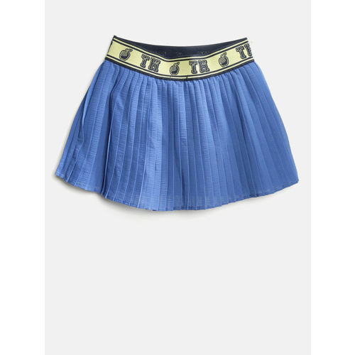 Tommy Hilfiger Girls Blue Pleated Flared Skirt