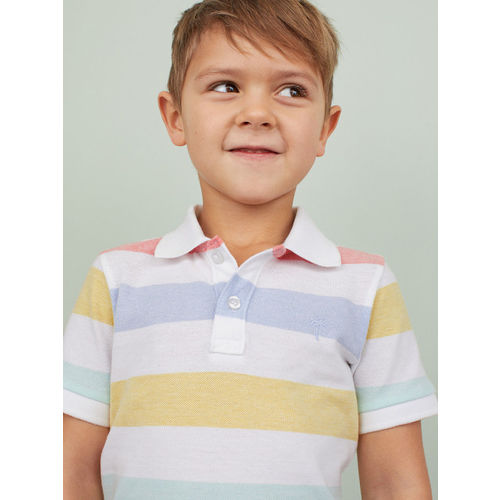 H&M Boys Yellow & White Polo Shirt