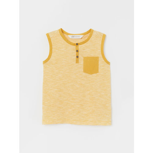 H&M Boys Mustard Yellow Cotton Vest Top
