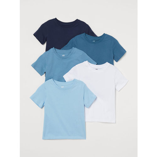 H&M Boys Solid 5-pack cotton T-shirts