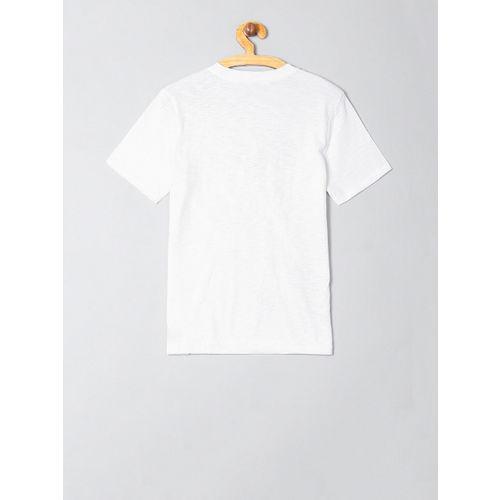 GAP Boys White & Blue Star Wars Printed Round Neck T-shirt