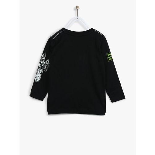 Palm Tree Boys Black & White Printed T-Shirt