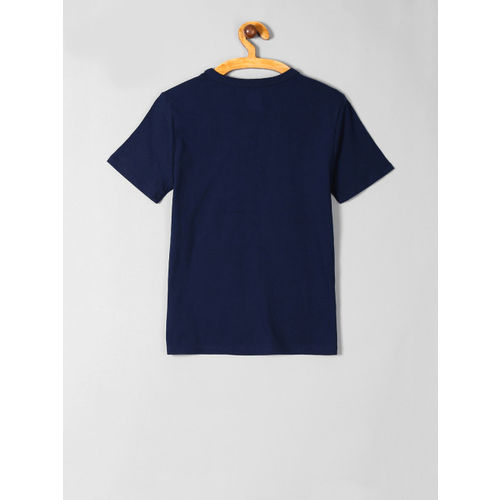 GAP Boys Navy Blue Printed Round Neck T-shirt