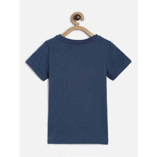 Puma Boys Blue Printed Alpha Round Neck T-shirt