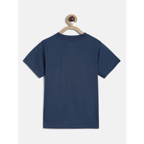 Puma Boys Blue Printed Round Neck T-shirt