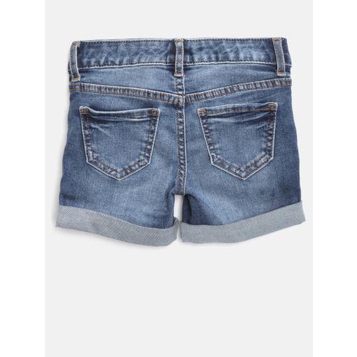 GAP Girls Superdenim Midi Shorts with Fantastiflex