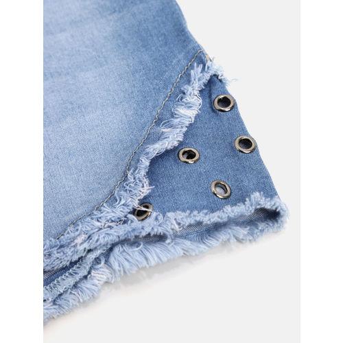 Gini and Jony Girls Blue Washed Denim Shorts
