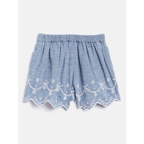 GAP Girls Scalloped Eyelet Pull-On Shorts