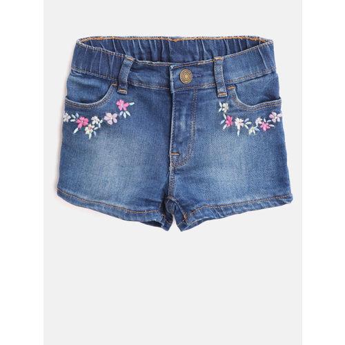 GAP Baby Girls Embroidered Denim Shorts