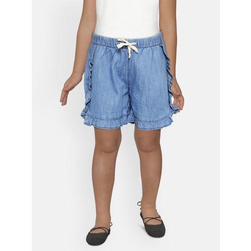 GAP Girls Ruffle Denim Pull-On Shorts
