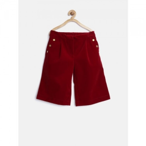 United Colors of Benetton Girls Maroon Shorts