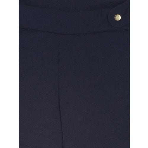 Gini and Jony Girls Navy Blue Solid Regular Fit Regular Shorts