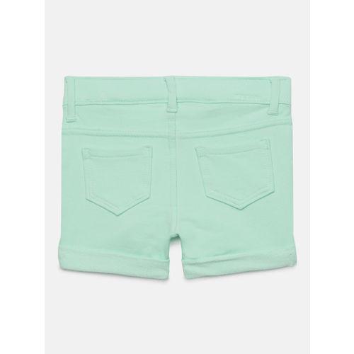 OSHKOSH Bgosh Girls Turquoise Blue Solid Regular Fit Shorts