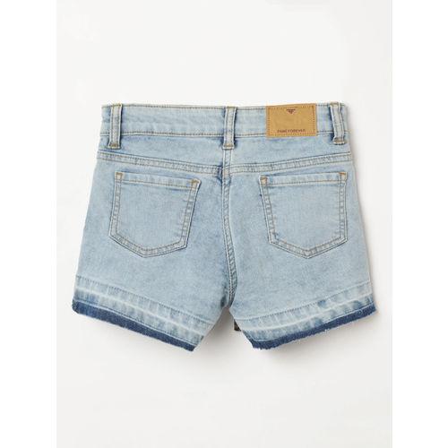 Fame Forever by Lifestyle Girls Blue Washed Regular Fit Denim Shorts