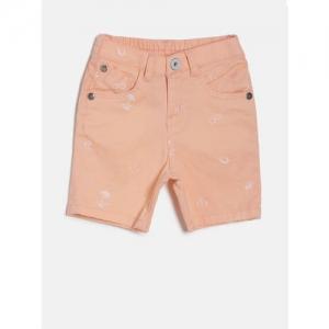 Palm Tree Girls Peach-Coloured Printed Shorts