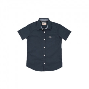 Flying Machine Boys Blue Regular Fit Solid Casual Shirt