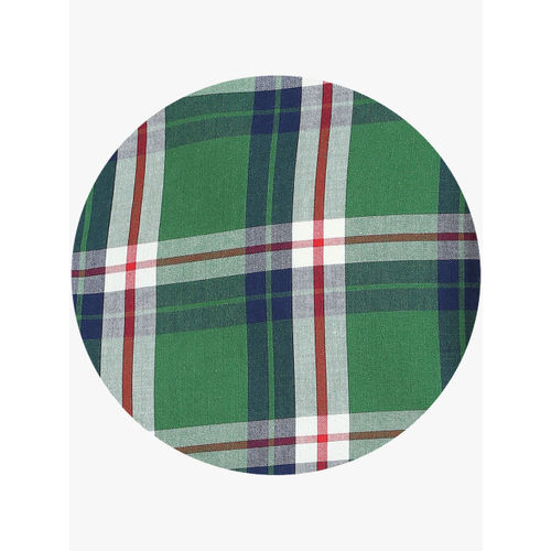Indian Terrain Boys Green & White Regular Fit Checked Casual Shirt