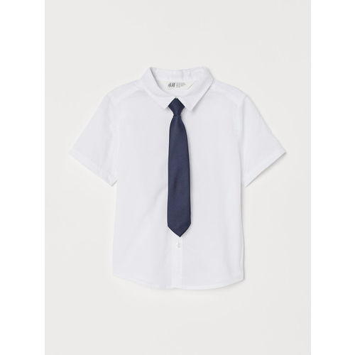 H&M Boys White Shirt With A Tie/Bow Tie