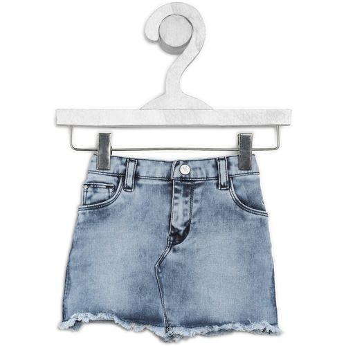Gini & Jony Solid Girls A-line Light Blue Skirt