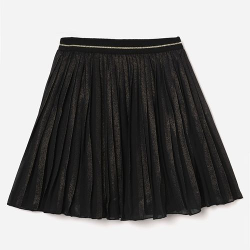 FAME FOREVER by Lifestyle Solid Girls Regular Black Skirt