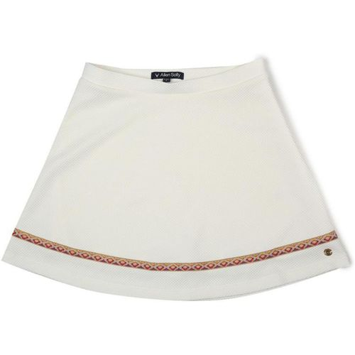 Allen Solly Self Design Girls Regular Beige Skirt