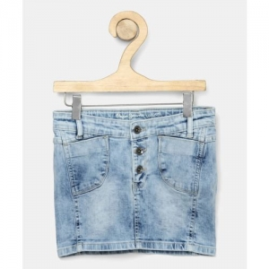 Pepe Jeans Washed Girls Straight Light Blue Skirt