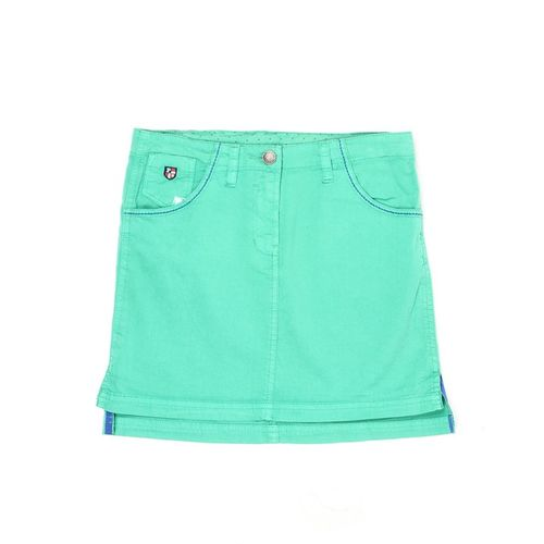 US Polo Kids Solid Girls A-line Blue Skirt