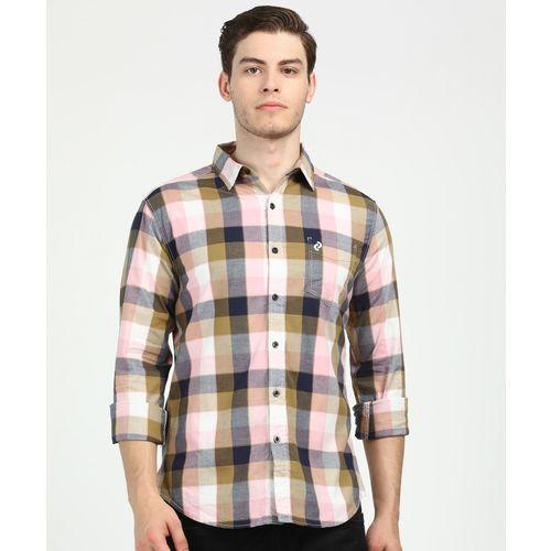 Denizen Men Checkered Casual Multicolor Shirt