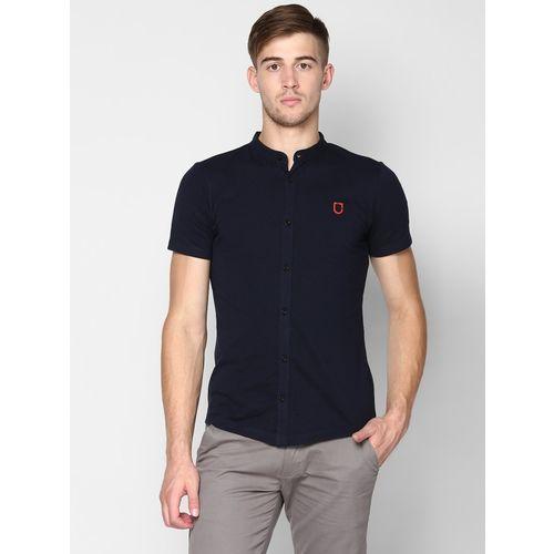 Urbano Fashion Men Solid Casual Blue Shirt