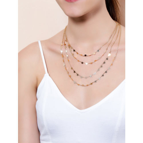 Rubans Gold-Plated Alloy Layered Necklace