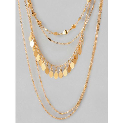 Rubans Gold Plated Multi Layer Necklace