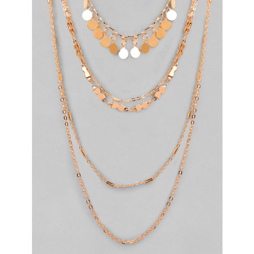 Rubans Gold Plated Handcrafted Multi Layered Necklace