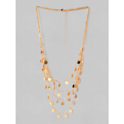 Rubans Women Gold-Plated Handcrafted Multi Layered Necklace
