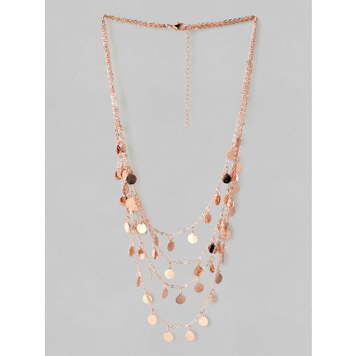 Rubans Rose Gold Plated Handcrafted Multi Layered Necklace