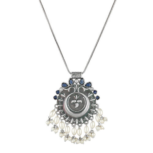 Adwitiya Collection Alloy Silver-Plated Antique Necklace