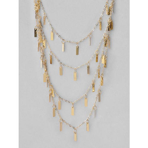 Rubans Gold-Plated Layered Statement Necklace