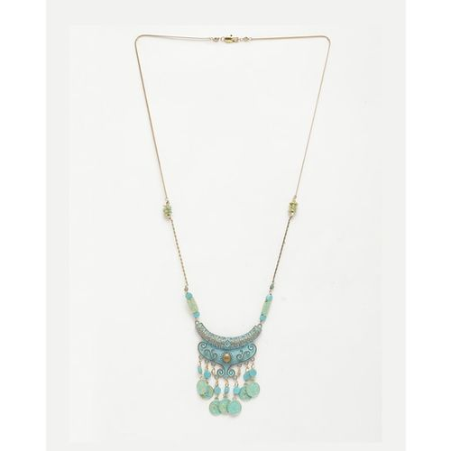 Diva Walk Long Necklace with Coins