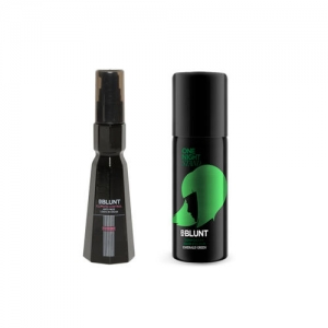 BBLUNT Set Of Anti-Frizz Leave-In Cream & Emerald Green Temporary Hair Colour