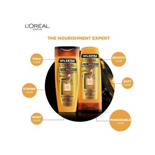 LOreal L'Oreal Paris Women Pack of 6 Oil Nourish Conditioner & Shampoo