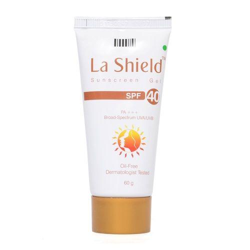 La Shield Sunscreen Gel SPF 40, PA+++,Broad-Spectrum UVA/UVB Oil Free and Dermatologist Tested, 60gms