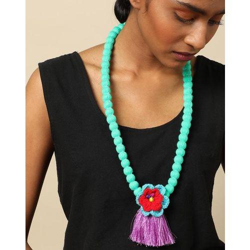 Indie Picks Thai Lanna Tribe Handmade Floral Crochet Necklace