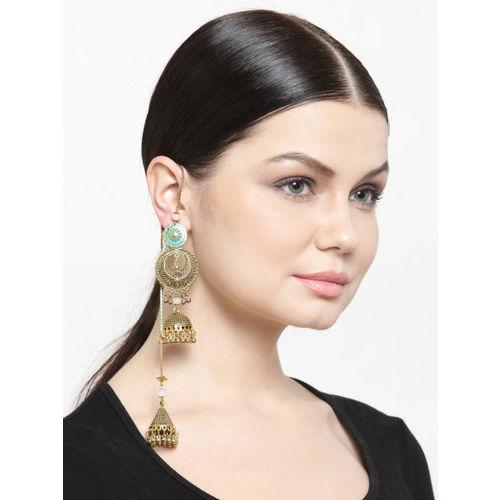 DIVA WALK Women Gold-Plated Contemporary Jhumkas
