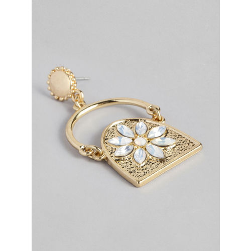 Accessorize Gold-Toned Classic Drop Earrings