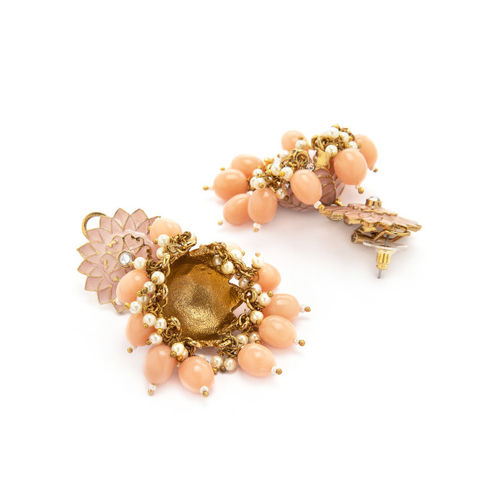 Rubans Gold-Plated & Handcrafted Dome Shaped Jhumkas
