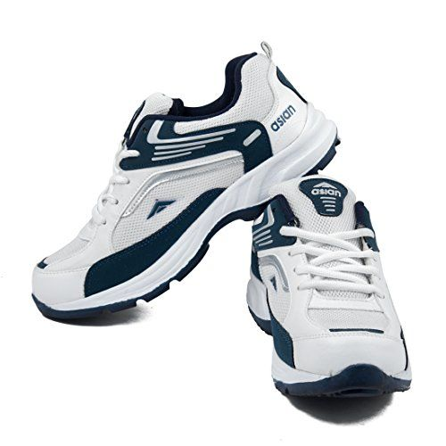 Asian Shoes White Mesh Lace Up Running Shoes