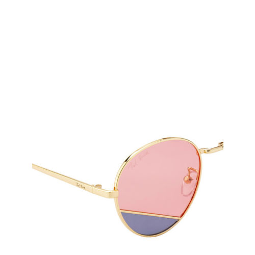 Ted Smith Unisex Pink Round Sunglasses TS-NC-19914_T4